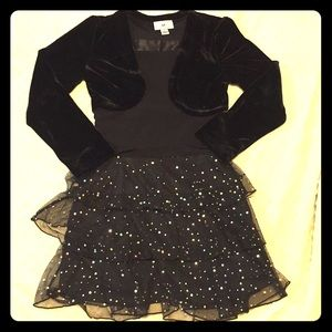 🔴Girls Sparkly Ruffled Holiday/Party Dress
